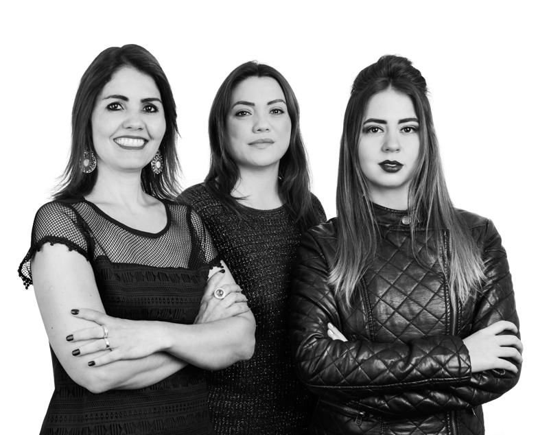 Lucilene Bredoff, Vanessa Thaís de Oliveira Costa e Kêmilly Rocha - Foto Pedro Sales   PS Foto Design