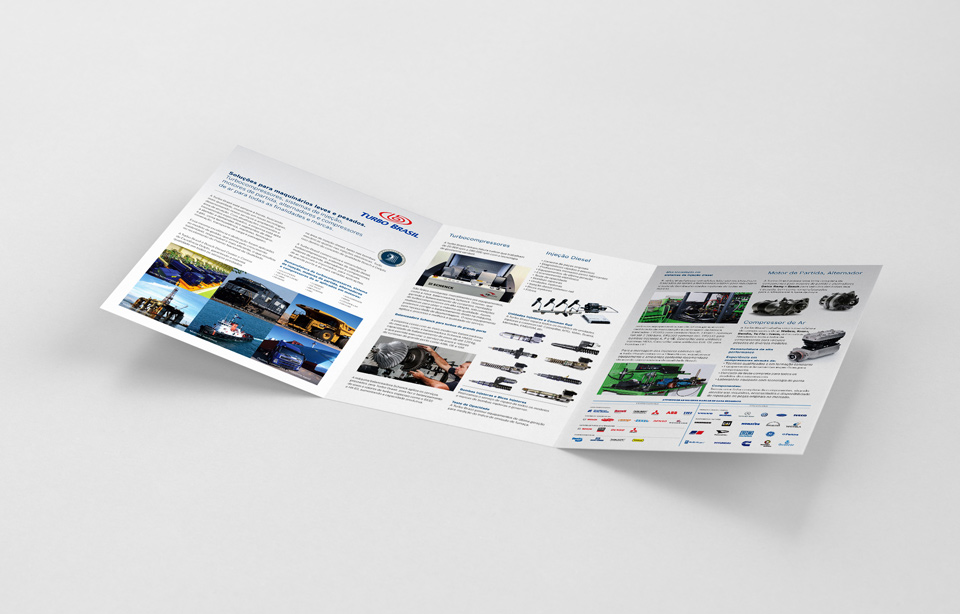 Folder Turbo Brasil 2017 - Design: Pedro Sales | PS Foto Design