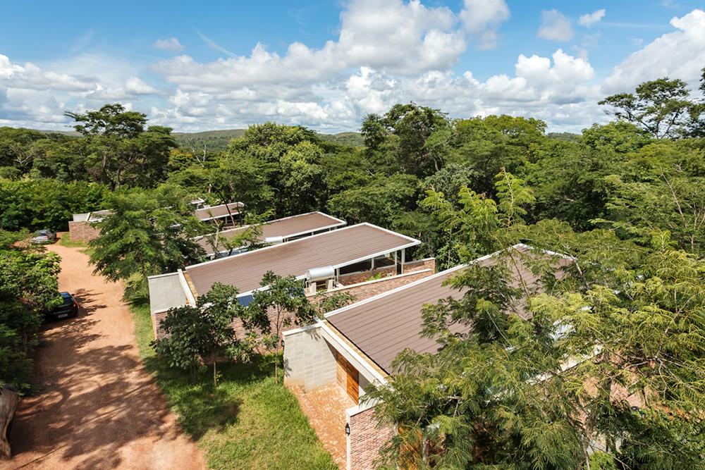 Vista aérea das casas que compõe a Vila Iapó - Serra do Cipó MG