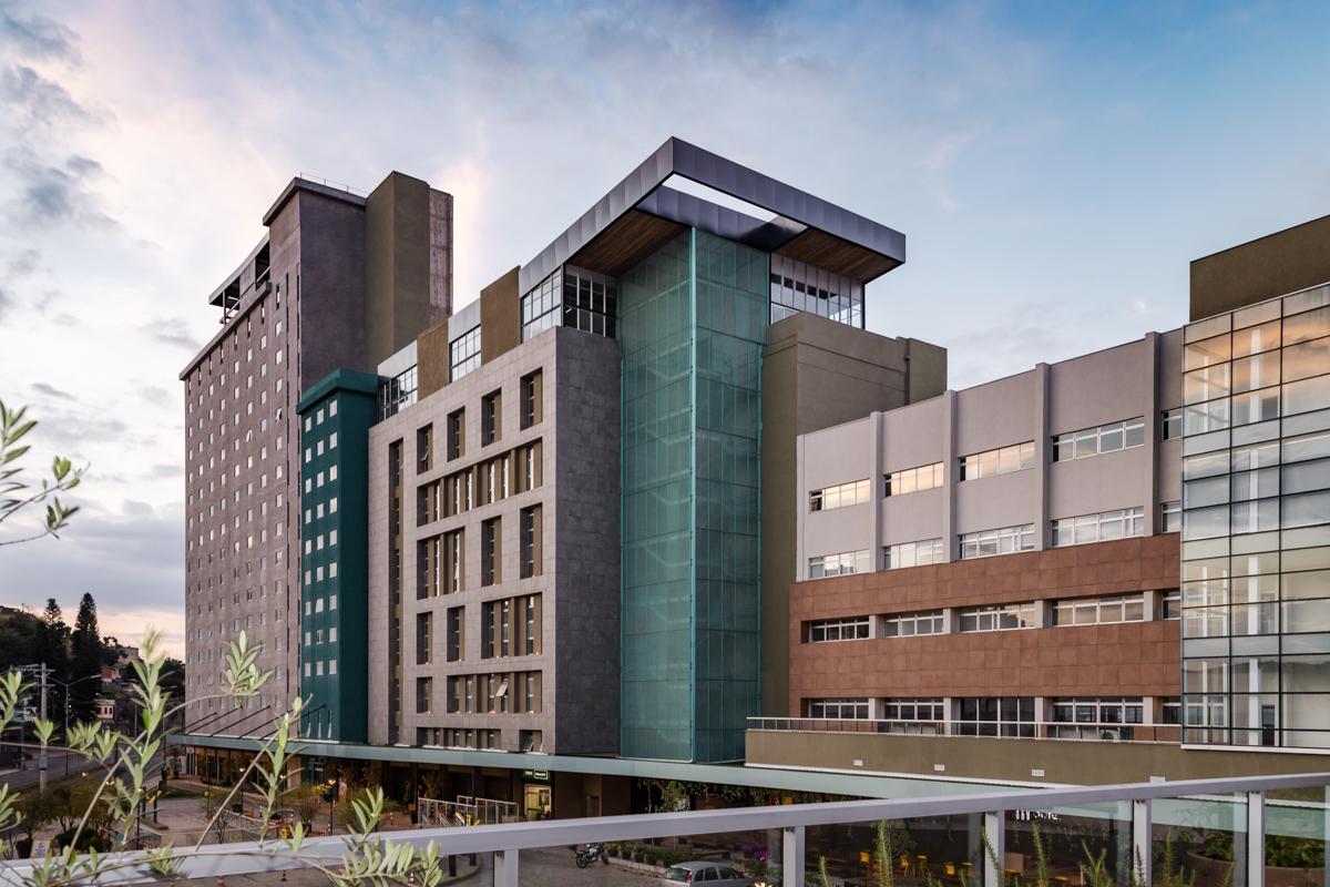 Fotografia de arquitetura do Moinho Center JK - Juiz de Fora MG
