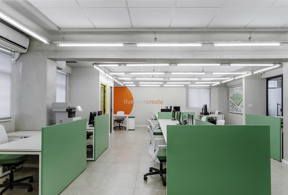 Fotografia de interiores do escritório da GP Cargo
